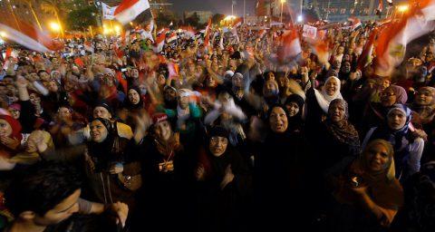 Egyptian women protesting
