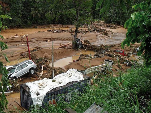 Hurricane Tomas flood damage