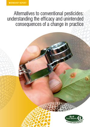 Cover image of Alternatives to conventional pesticides workshop report