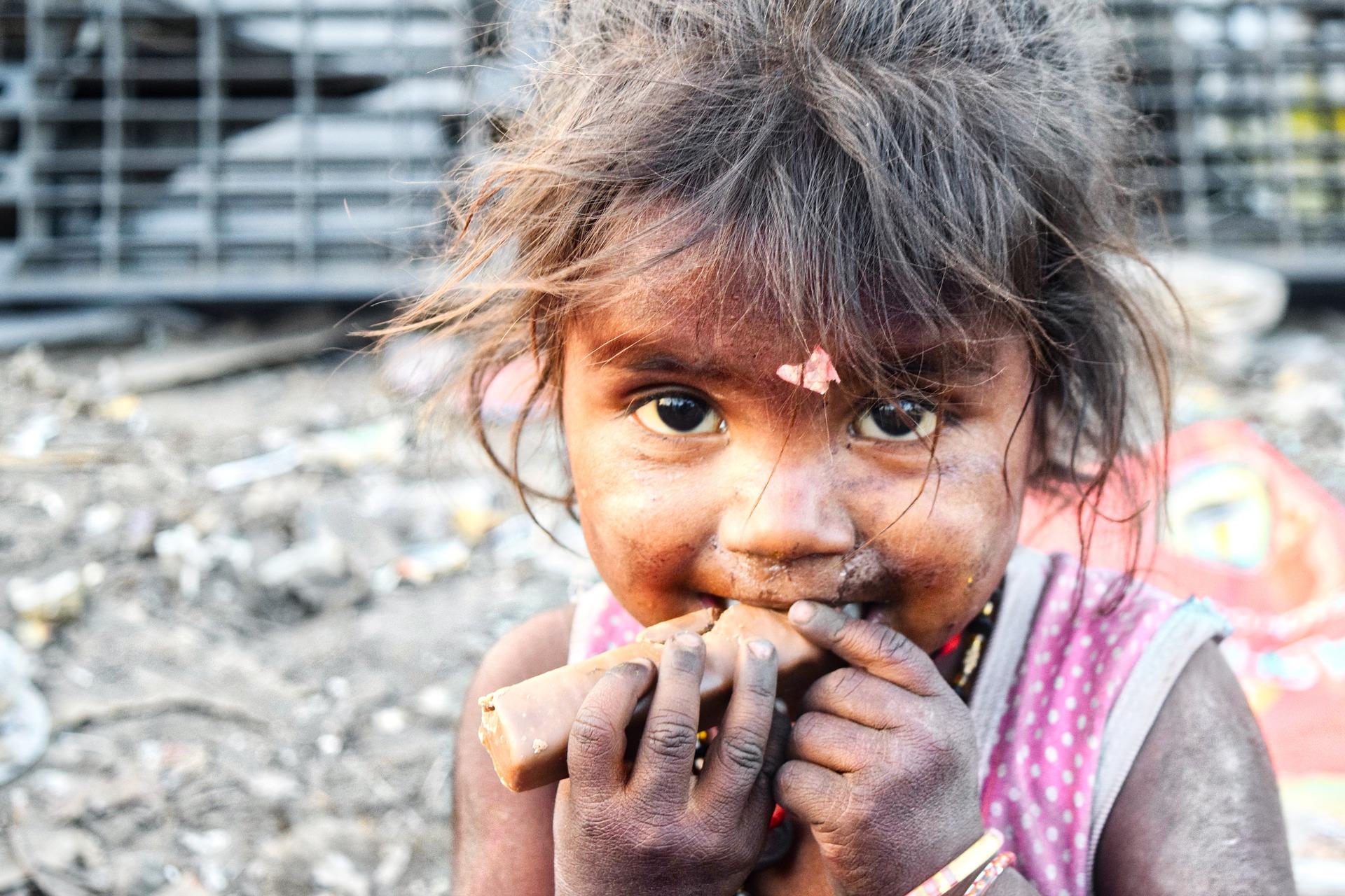 Young girl in Indian slum