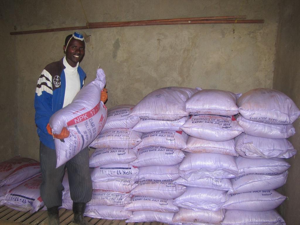 Fertilizer storage in Africa