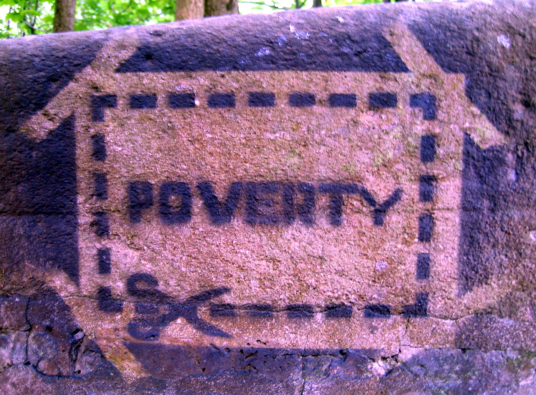 Poverty sign