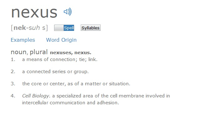 Screenshot of 'Nexus' from Dictionary.com