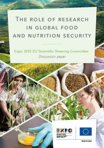 Cover image of 'The role of research in global food and nutrition security' report