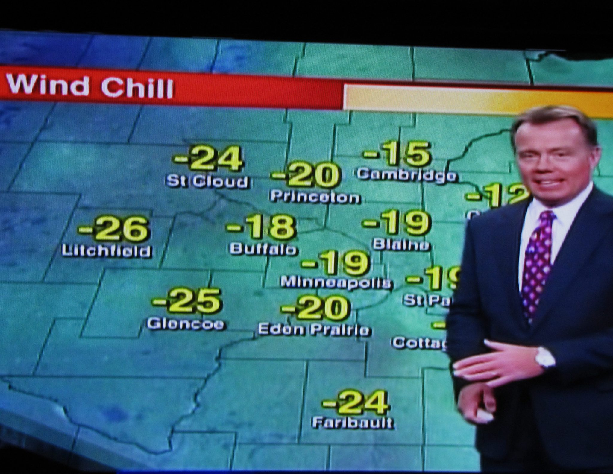 US weather forecast: wind chill