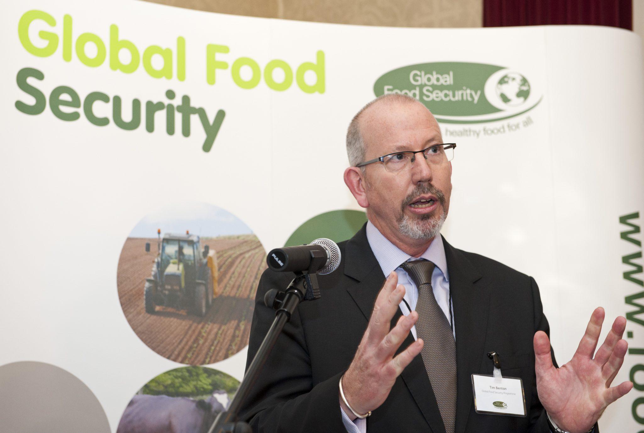Tim Benton speaking at an event