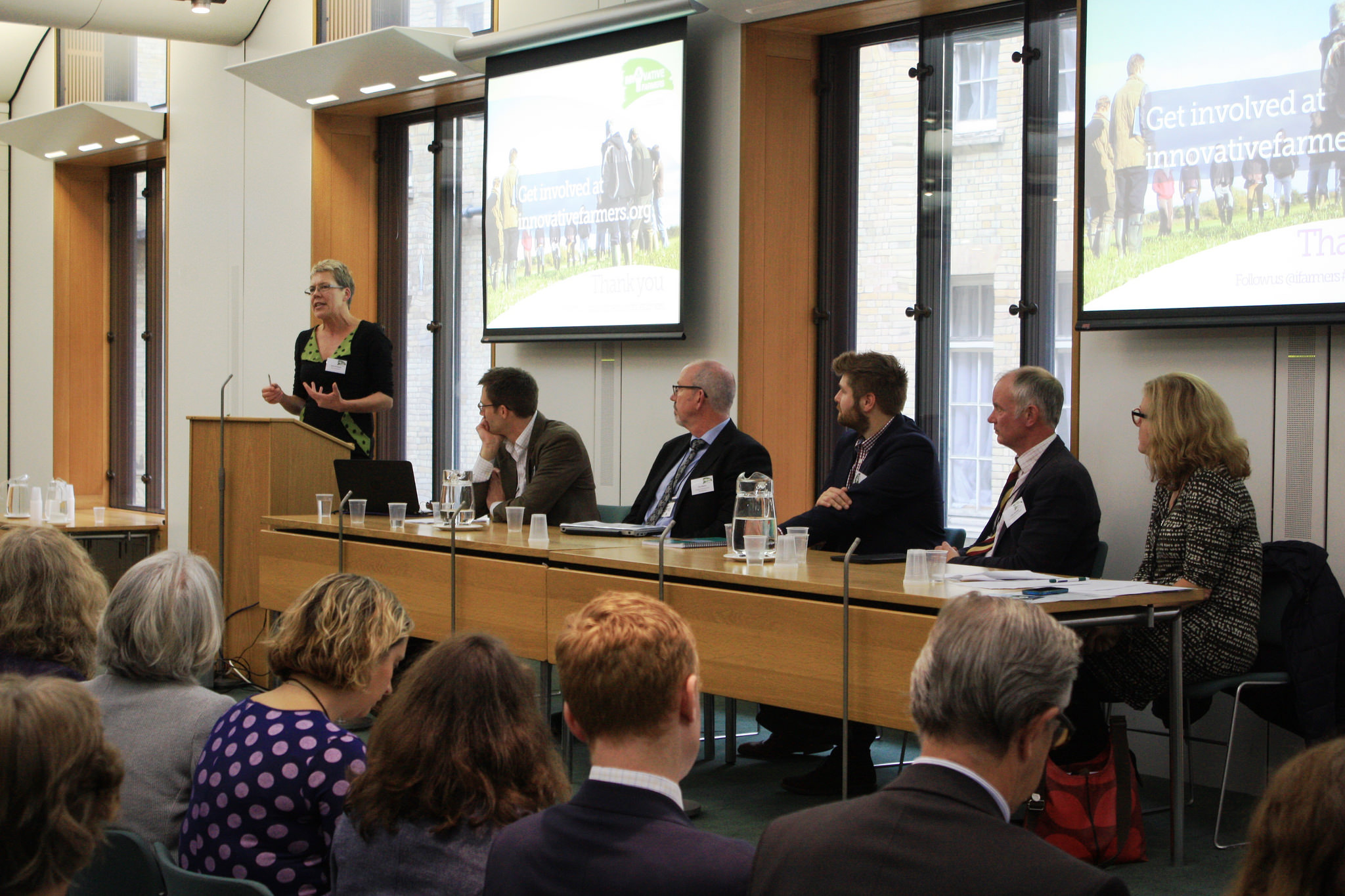 Helen Browning, CE of the Soil Association, speaking at the launch of Innovative Farmers