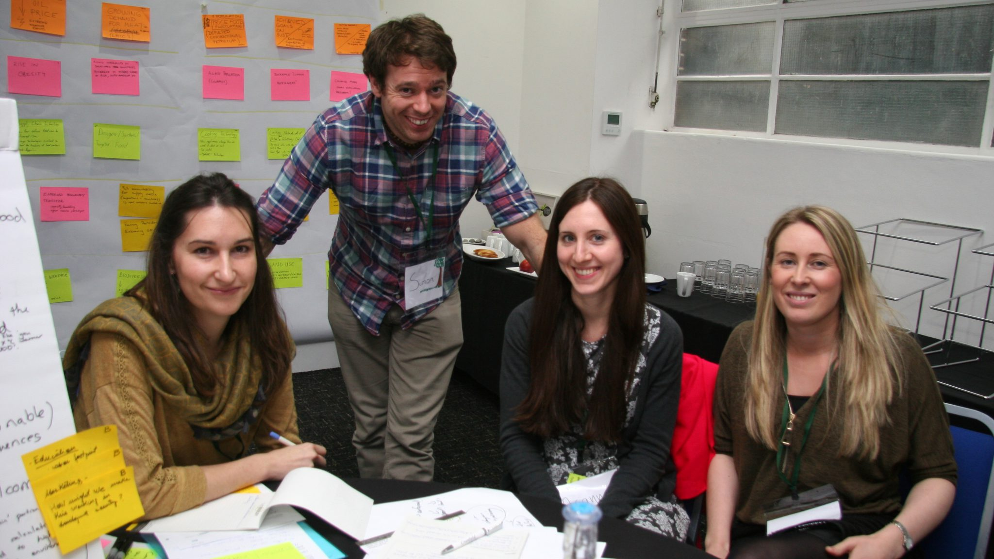 Blog post author Arianna Psichas with Policy Lab team