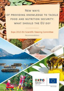Cover image of 'New ways of providing knowledge to tackle food and nutrition security: what should the EU do?' report