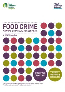 Cover image from the National Food Crime Unit report