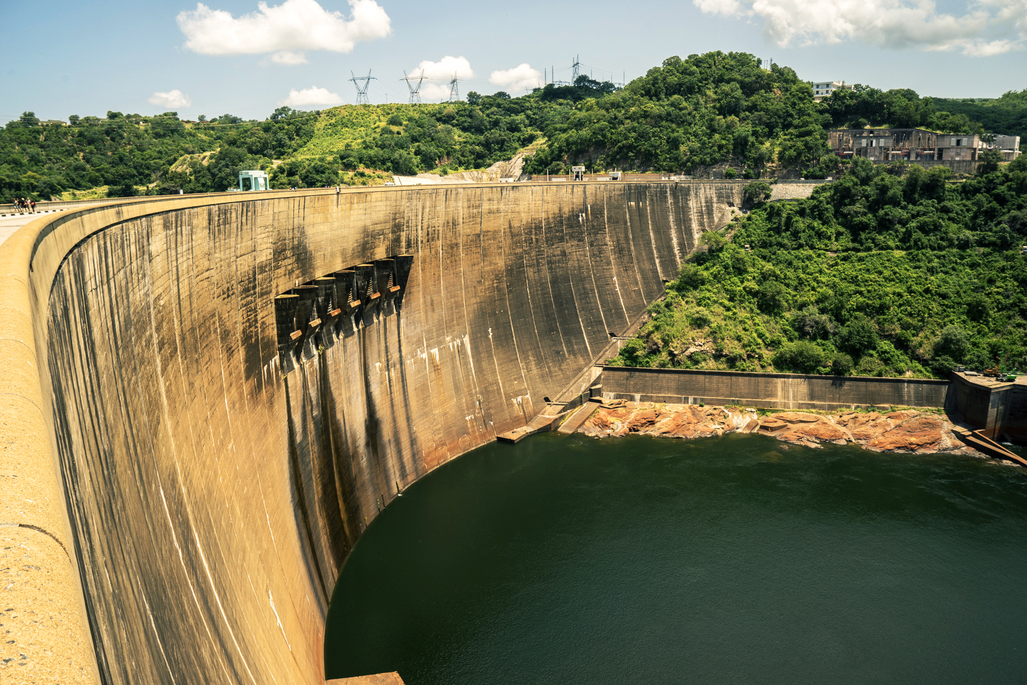 The Kariba hydropower dam in Zambia