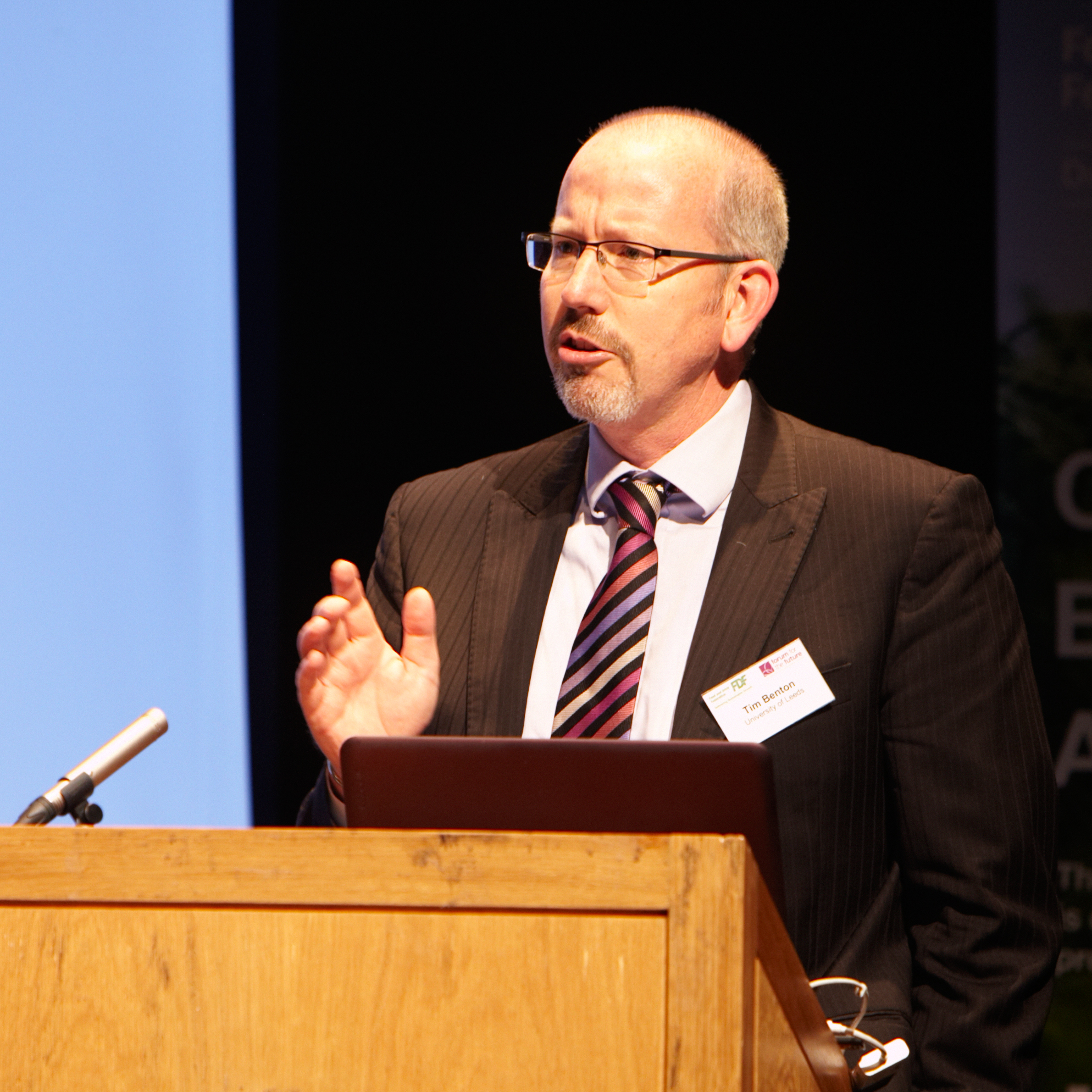Professor Tim Benton speaking at an event