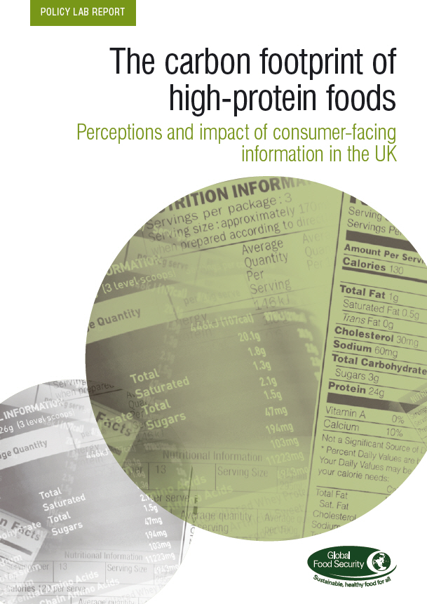 The carbon footprint of high-protein foods