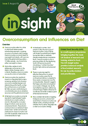 Insight: Over consumption and influences on diet