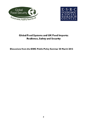 Global food systems and UK food imports: Resilience, safety and security