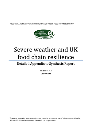 Severe weather and UK food chain resilience