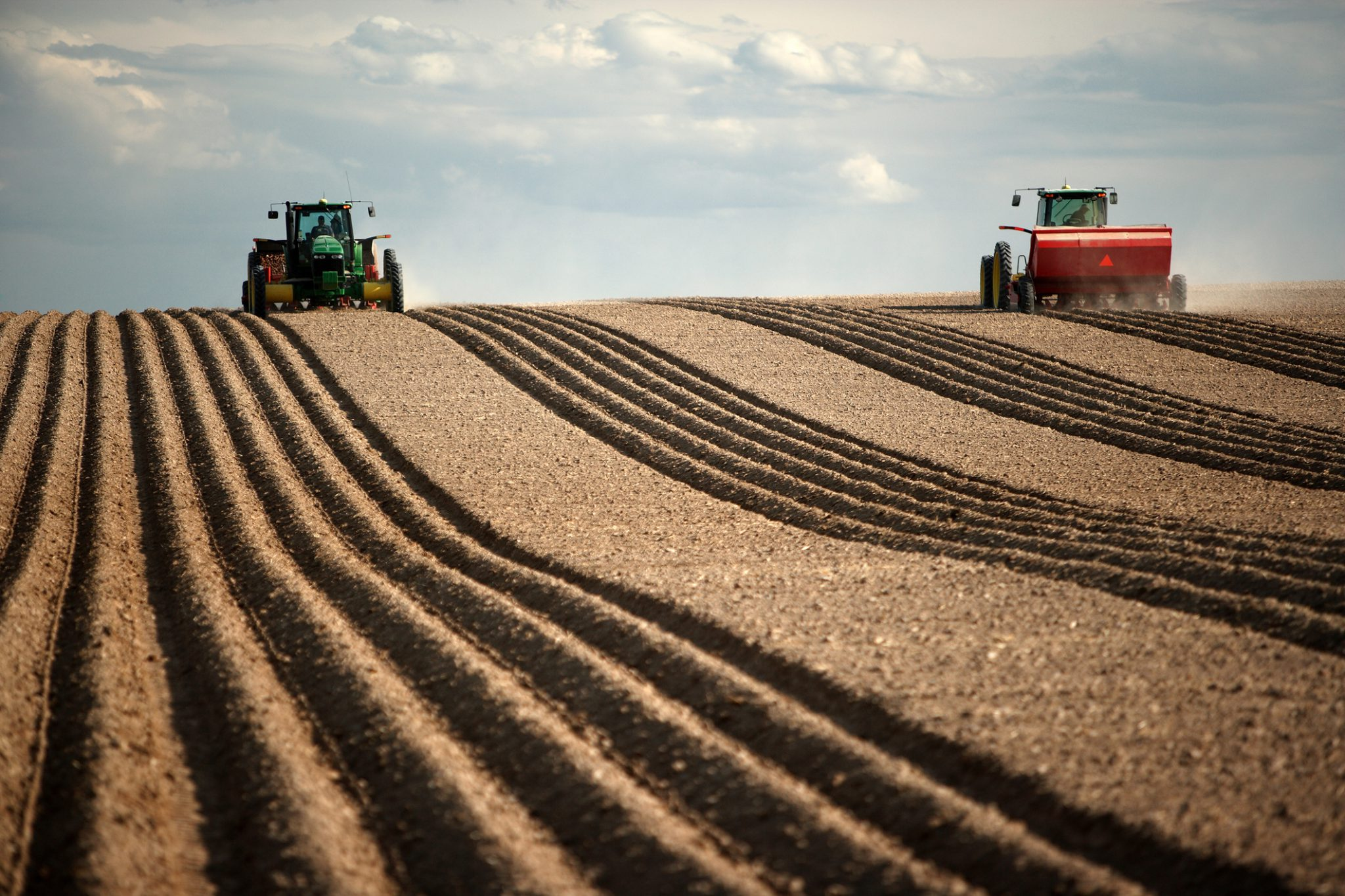Tractors spring planting