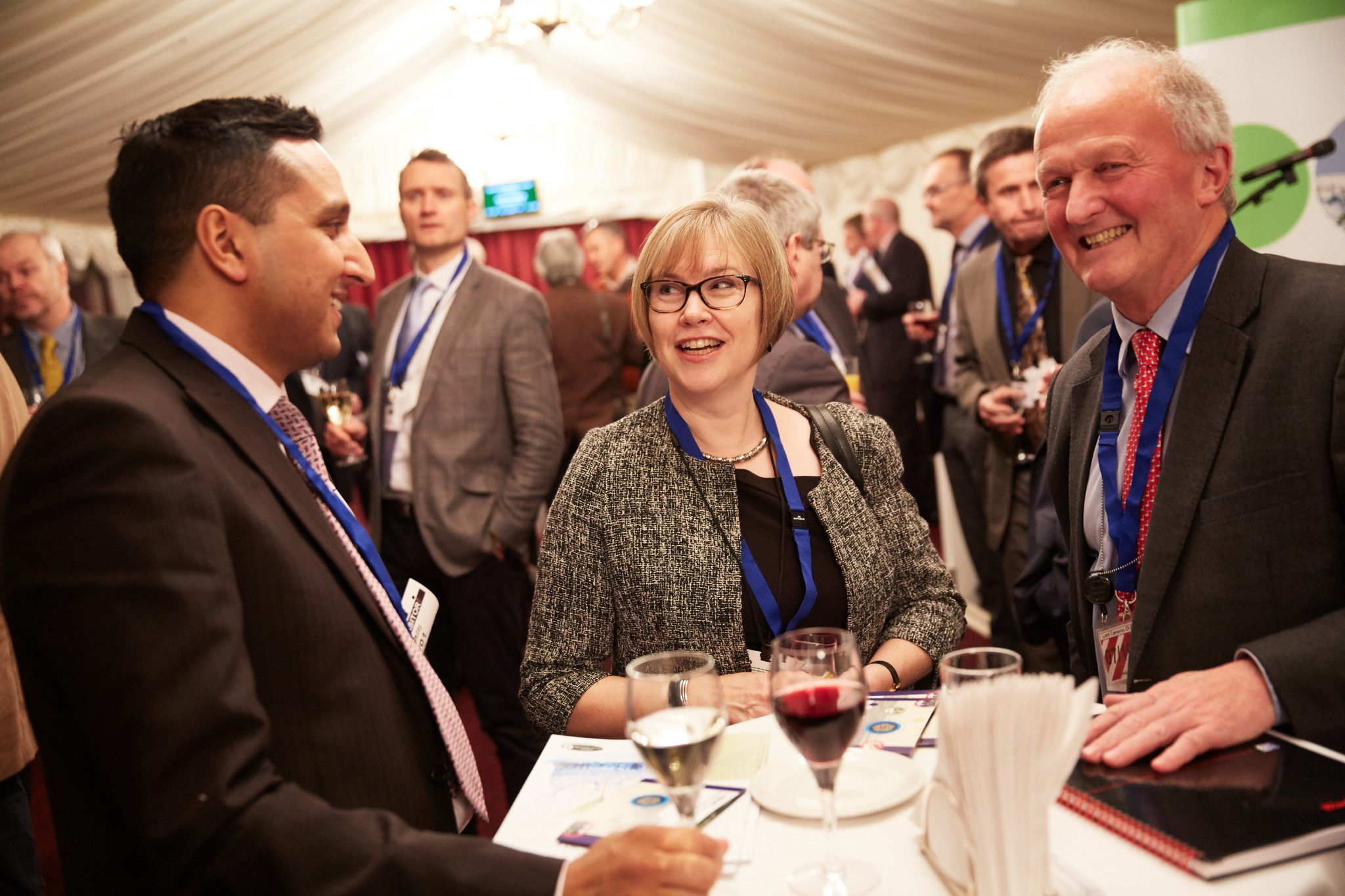 Riaz Bhunnoo, Head of the GFS programme, Melanie Welham, BBSRC Chief Executive, and Lord Cameron of Dillington, Chairman of the GFS Strategy Advisory Board, speaking at the event